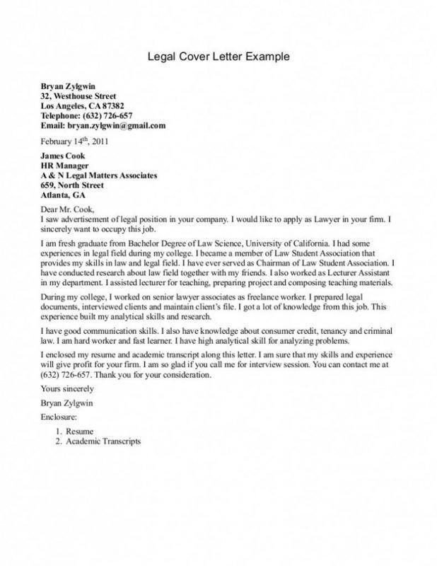 harvard cover letter sample