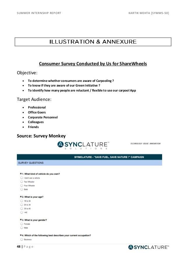 Summer Internship Report on Developing business promotional strategie…