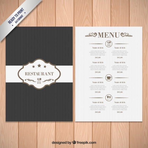 Elegant menu template Vector | Free Download