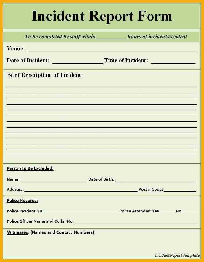 Sample Police Report Template - Template Examples