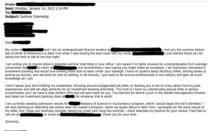 Student's Bold Cover Letter Gets Surprising Results (BizCom in the ...