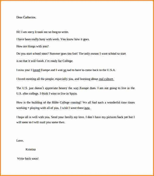 Friendly Letter Format Example. Business Letter Format Example ...