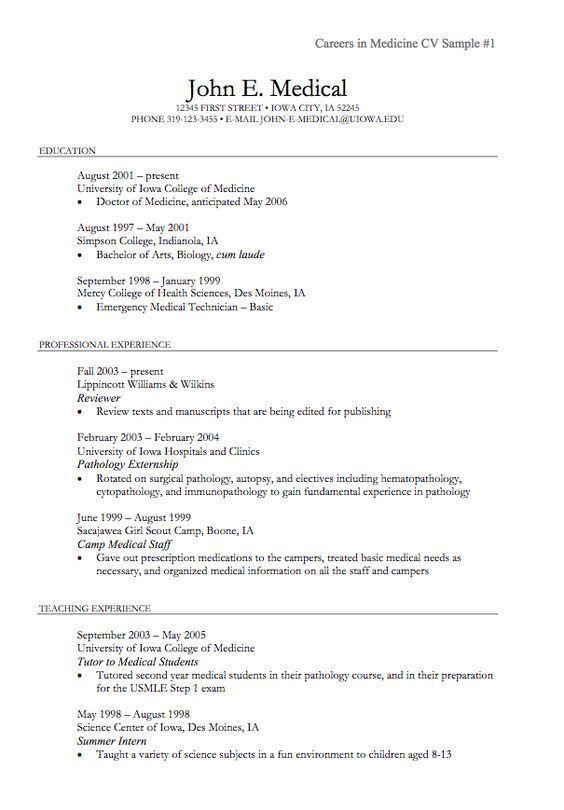 Undergraduate Sample CV - http://resumesdesign.com/undergraduate ...
