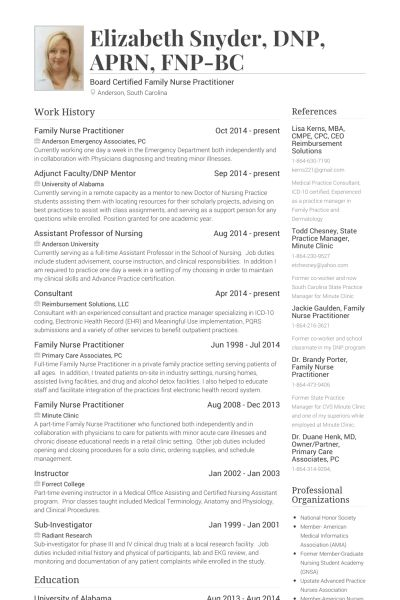 Sample Resume Nurse Practitioner Example