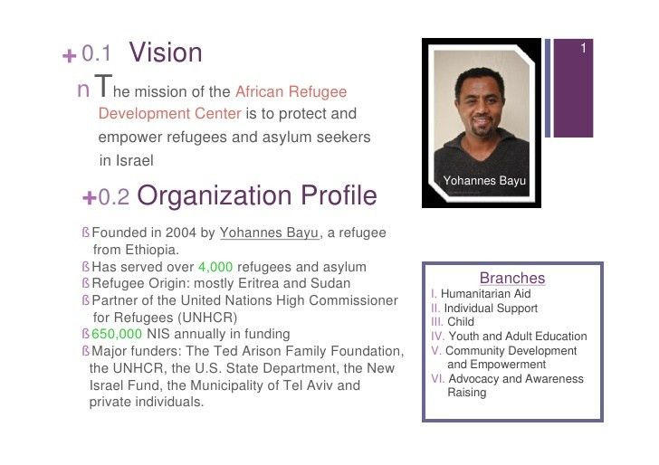 Free marketing plan sample of a non-profit African Refugee Developmen…