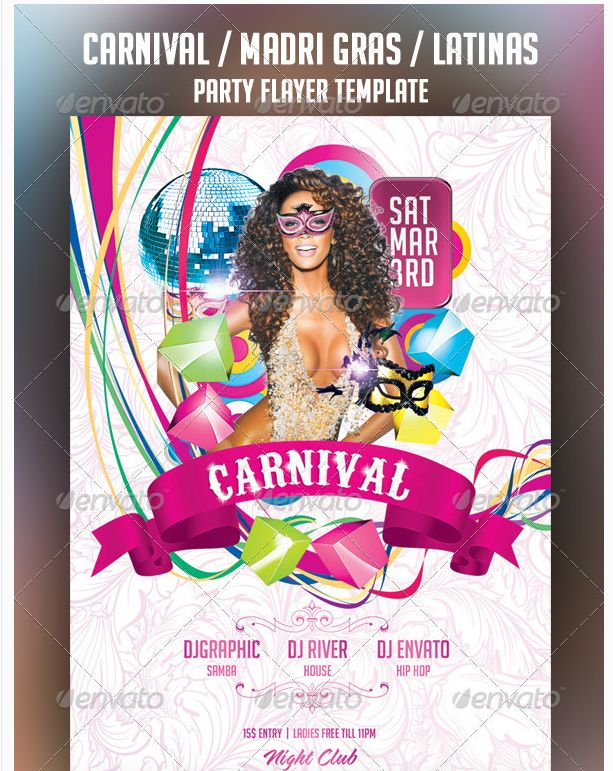 Carnival Party Flyer Template - Party Flyer Templates For Clubs ...