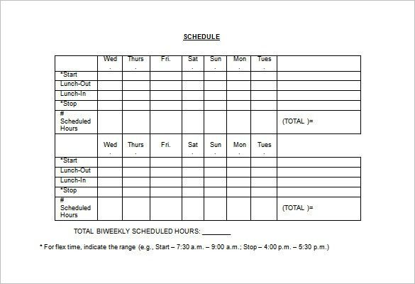 "Work Schedule. You Can Download A Pdf Version Of The ""Wide Row ..."