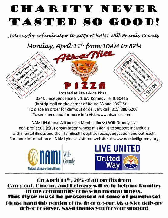 Fundraiser at Ats-a-Nice Pizza | Romeoville