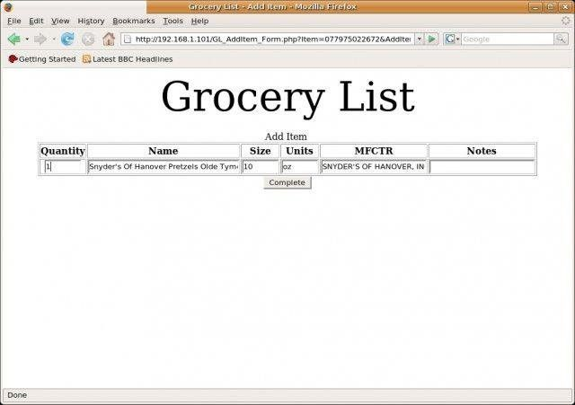 Grocery List download   SourceForge.net