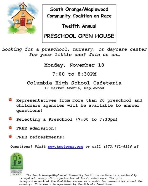 Tag Sale and Preschool Open House