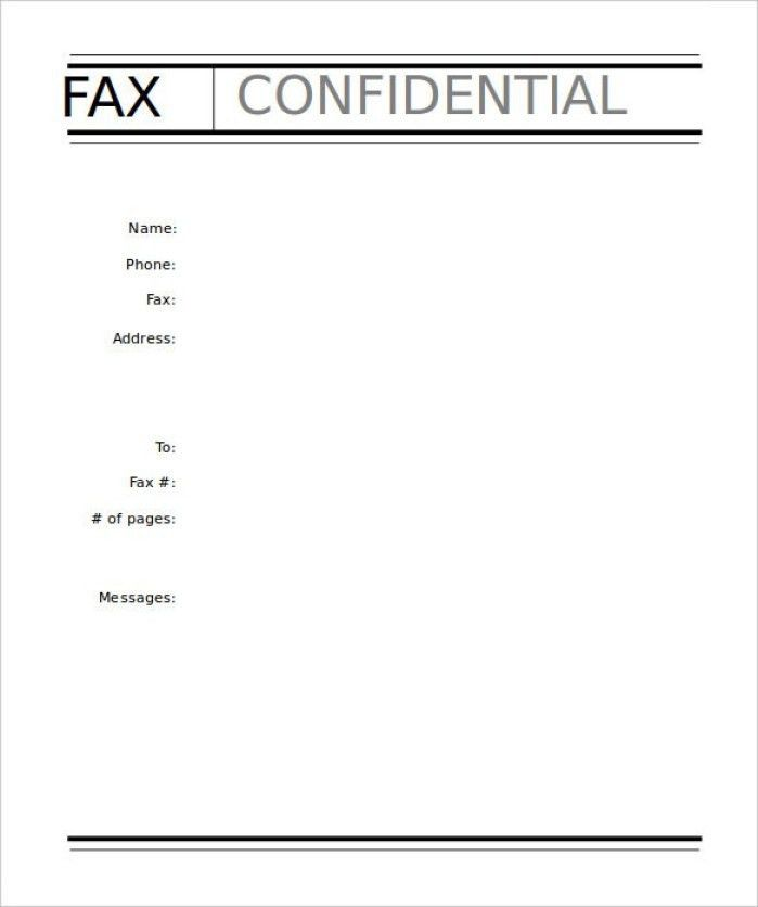 Example Fax Cover Sheet