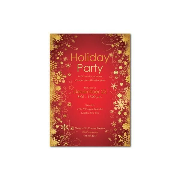 Party Invitations: Glamorous Holiday Party Invitation Template ...