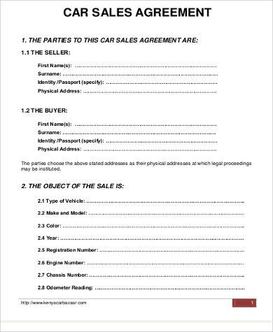 Vehicle Sale Contract Template. Used Car Pictures Car Sale ...