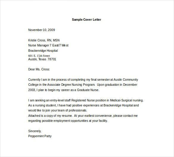 Entry Level Cover Letter. Foxy Sample Cover Letter Examples Entry ...