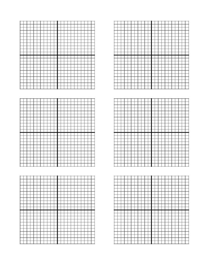 X-Y Axis Graph Paper Template Free Download