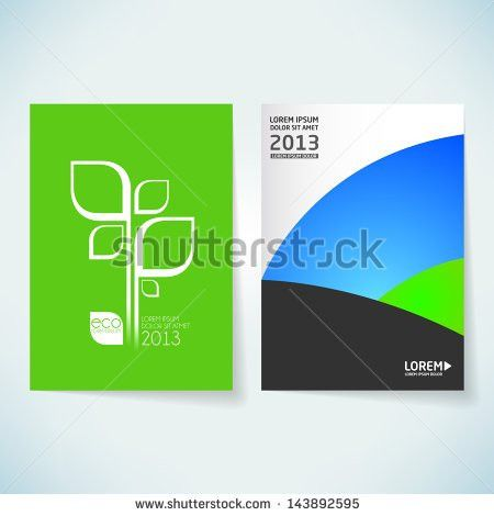 Brochure Cover Design Vector Template Stock Vector 140197693 ...