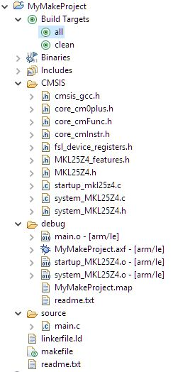 Tutorial: Makefile Projects with Eclipse   MCU on Eclipse