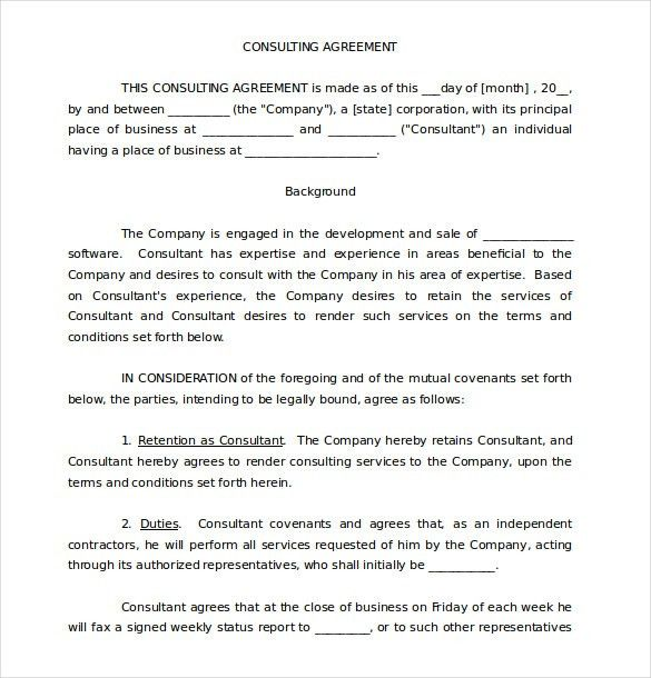 Simple Consulting Agreement. Simple Pdf Consignement Contract .