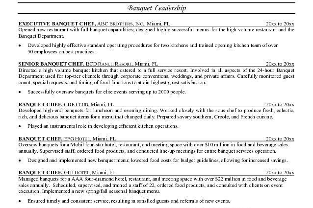 chef resume sample Microsoft Word JK Banquet Chef - Writing Resume ...