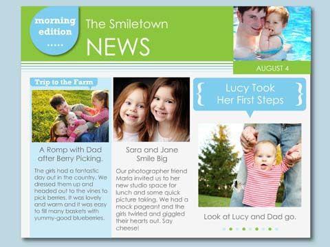 Family News (Free) - Newsletter - Smilebox