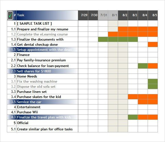 Sample Task Tracking - 6+ Documents in PDF, Word, Excel