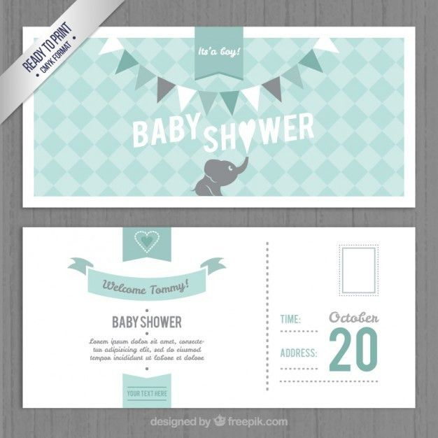 Lovely baby shower invitation template Vector | Free Download