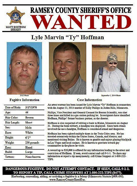 Ty Hoffman described as gambling traveler on new wanted poster ...