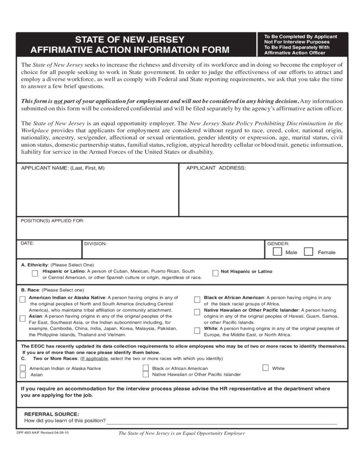 Application for Employment - State of New Jersey Free Download