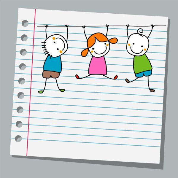 Notebook paper with kids vector material 03 - Vector Life free ...