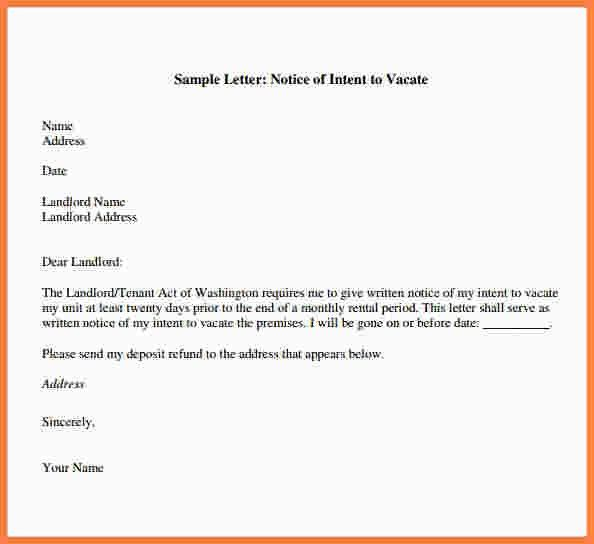 Letter Of Intent To Vacate. Image Titled Write A Letter Of Notice ...