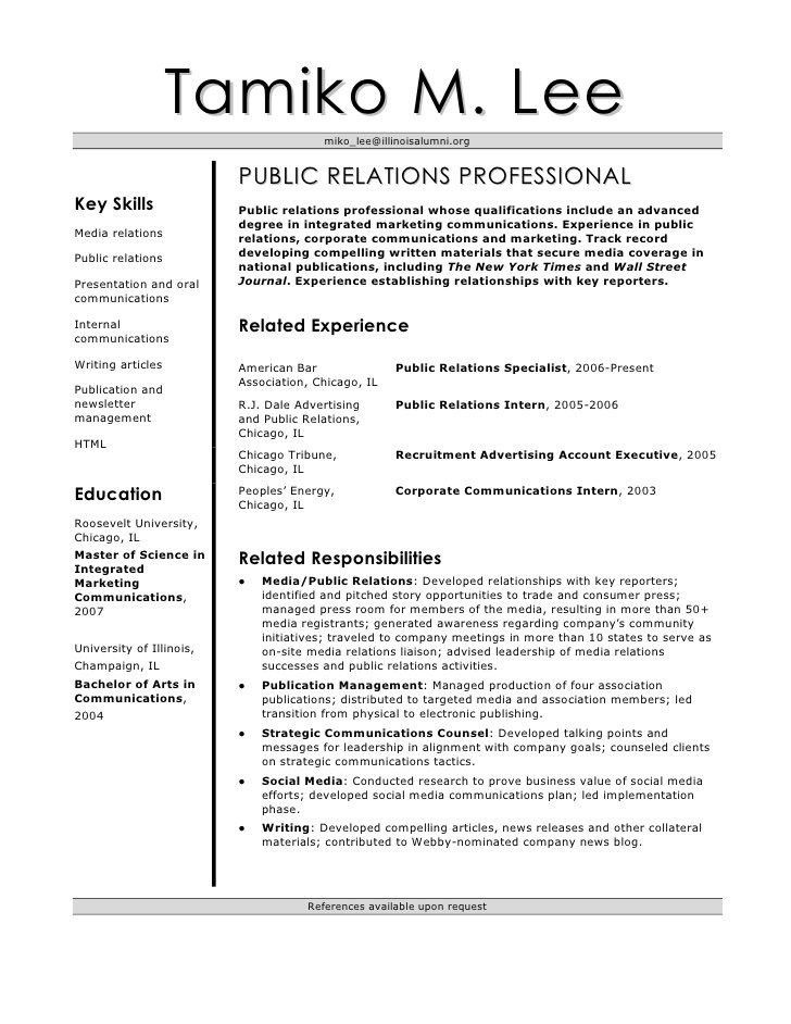 Sample Public Relations Manager Resume | haadyaooverbayresort.com