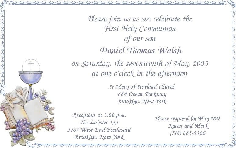First Communion Invitation Templates | christmanista.com