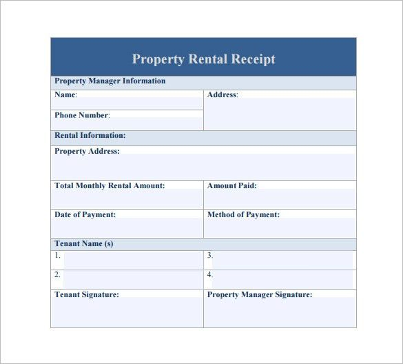 Rental Receipt Template - 30+ Free Word, Excel, PDF Documents ...