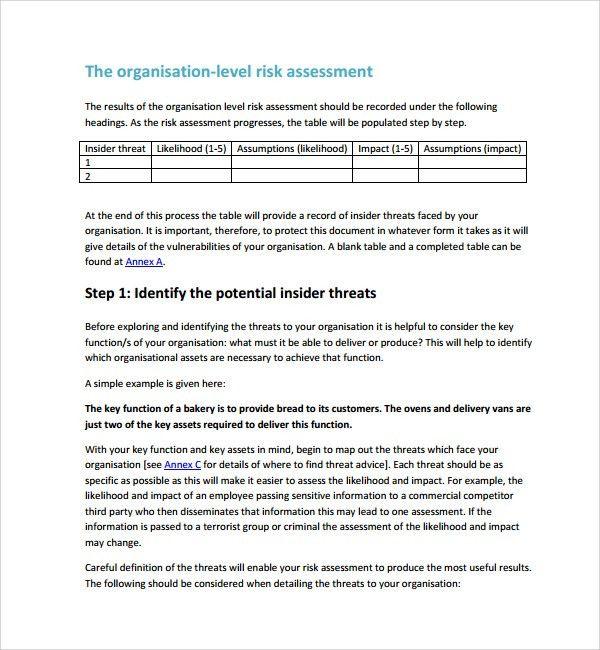 Sample Risk Assessment. Sample Violence Risk Assessment Checklist ...