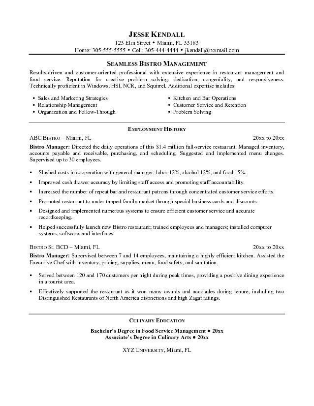 restaurant theatre manager resume sample. resume samples ...