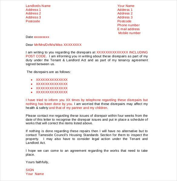 9+ Tenant Complaint Letter Templates – Free Sample, Example ...