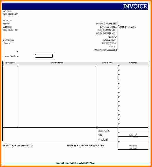 4+ Blank Invoice Template | Expense Report