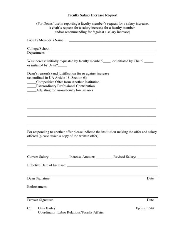 faculty salary increase request form example by bT4F324 : Helloalive
