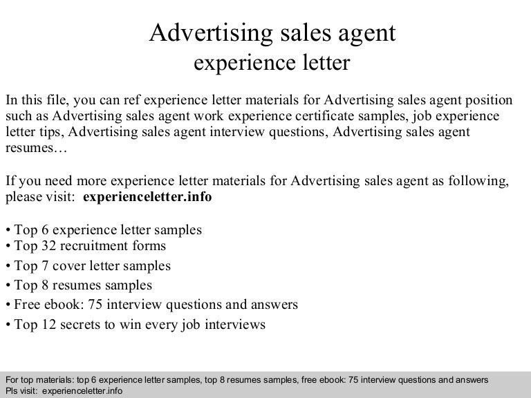 advertising sales agent cover letter sample resume advertising
