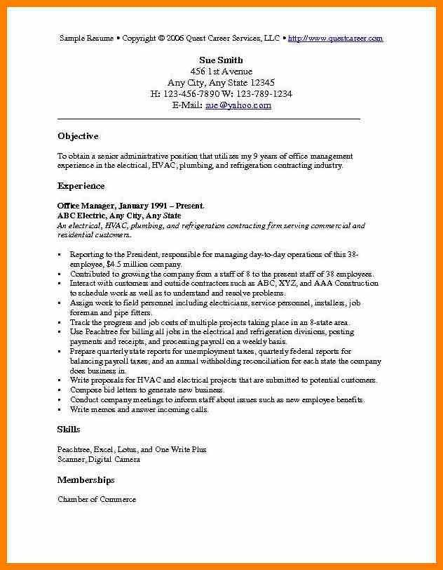 basic resume objective examples download sample resume objective