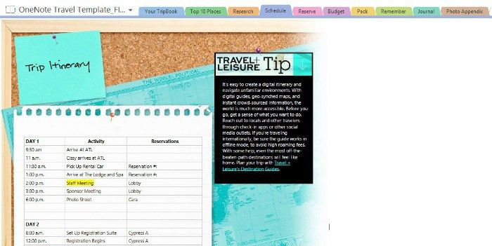 Travel Made Easy with Microsoft OneNote Travel Template {Giveaway ...