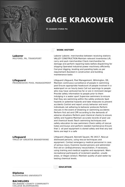 Laborer Resume samples - VisualCV resume samples database