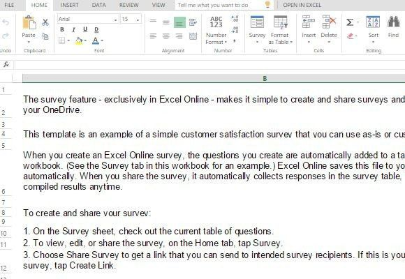Customer Satisfaction Survey Template For Excel