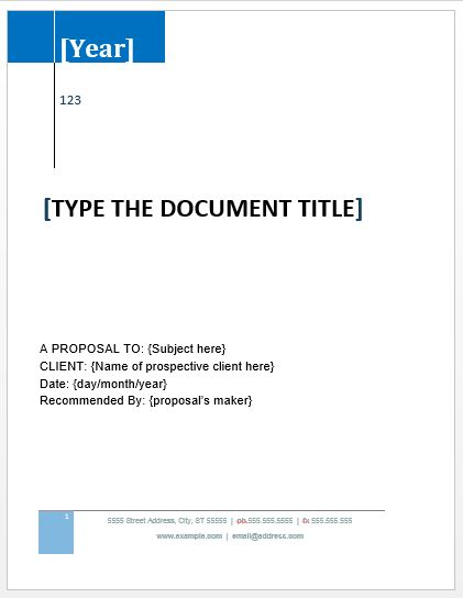 Proposal Example | Microsoft Word Templates