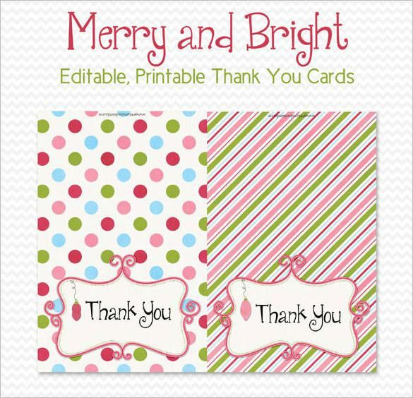 15+ Holiday Thank You Cards – Free Printable PSD, PDF, EPS Format ...