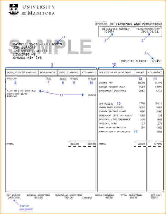 4+ Pay Stub Template Free | Timeline Template