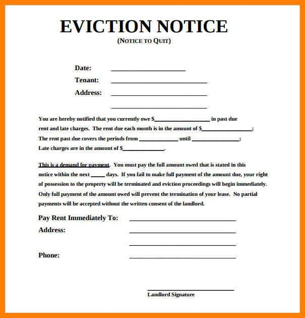 5+ free printable eviction notice | artist resumes