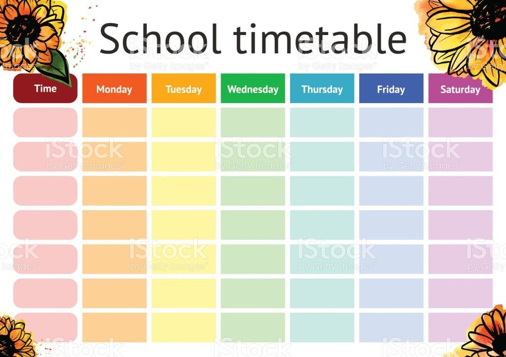 Timetable Template School School Class Timetable Template Sample – Timetable Template School
