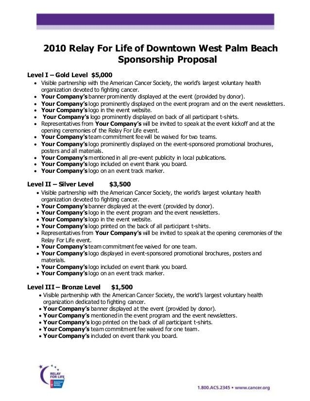 2010 Proposal And Committment With Template