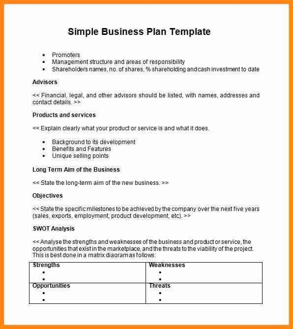 8+ simple business plan template | model resumed